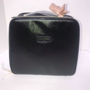 NWOT Lancôme Paris Black Makeup Case w/ Small Bag
